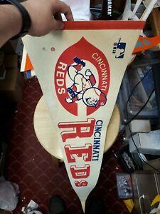 1967 Cincinnati Reds 12x29.75 Pennant MLB Baseball Vintage Cincinnati Ohio