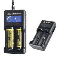 Xtar VC2 Plus Battery Charger LCD Li-ion IMR Ni-MH Ni-CD 18650 16340 AA AAA