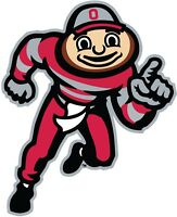 """Ohio State Buckeyes Brutus Color Vinyl Decal Sticker - You Choose Size 2""""-34"""""""