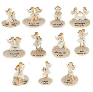 Angel Stones Sentimental Pebble Ornament Figurine Friend Family Mum Baby Gift