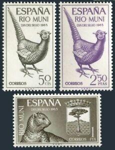 Rio Muni 53-55,MNH.Michel 66-68. 1965.Ring-necked Pheasant,Leopard,Arms
