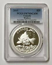 2015 Canada PCGS PR 70 DCAM Walleye Silver $20 Silver Coin