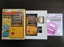 Nintendo Game Boy Pocket Printer Pikachu Yellow CIB