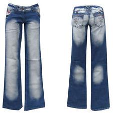 Denim Girls blue jeans w27-gr.34 bootcut pantalones golpe señora Teens chica nº 4