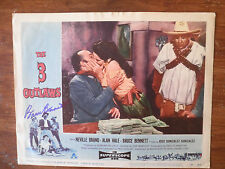 Bruce Bennett Signed Western Lobby Card From The 3 Outlaws