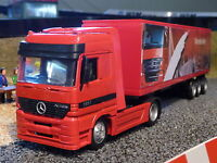 LKW Mercedes Benz + CONTAINER in 1:43 Slotcar-DEKORATION für Carrera      15113A