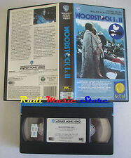VHS WOODSTOCK I & II WARNER GLI SCUDI CANNED HEAT HENDRIX JOAN BAEZ  mc dvd(VM9)