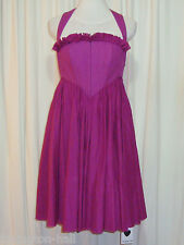 "BNWT:GORGEOUS TWENTY8TWELVE MAGENTA COTTON CORSET DRESS 12 ""VARDA"""