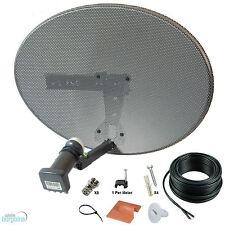 Sky Mk4 Zone 1 Satellite Dish & Quad Lnb + 30m Black Twin Cable Kit ! Freesat HD