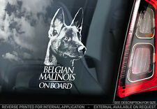 Belgian Malinois - Car Window Sticker - Dog Sign -V01