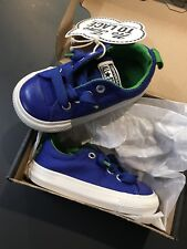 Converse All Star Sneakers Toddler size 5 Boys No Time To Lace Blue Green