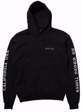 Matix NO WRONG TURNS Mens Pullover Hoodie Sweatshirt Size Medium Black NEW 2017