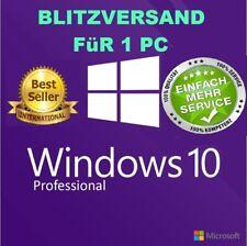 Windows 10 Pro Key Aktivierungsschlüssel Win 10 Professional x32 & x64 Bit Email