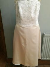 Ivory/White Lace Prom/Occasion Dress Size 12 by Dessy Collection