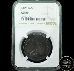 1819 Capped Bust Half Dollar 50C NGC AU 50~Combo Shipping~!