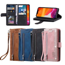 Luxury Matt Flip Satnd Leather Purse Case Cover For Huawei P30 P40 Lite P40 Pro