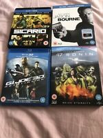 3D Blu-Ray Bundle X 4. Sicario, G I Joe Retaliation, 47 Ronin, Jason Bourne VGC