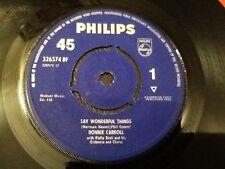 RONNIE CARROLL . SAY WONDERFUL THINGS  . 1963 Classic 1960's HIT
