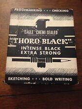 "Vintage Eagle ""Thoro Black"" 313 Pencils with Original Box"