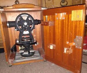 Vintage Dietzgen 6100 Series Land Survey Transit Level in Wooden Case
