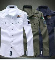 New Mens Fashion Luxury Casual Slim Fit Stylish Long Sleeve Dress Shirts Tops u