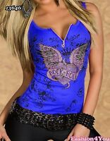Sexy Women's Ladies Top Summer Casual Angel Wings Top Size 8/10,10/12,12/14 UK