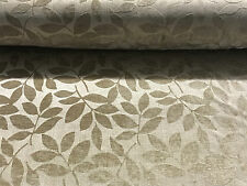Designer Heavyweight 'Henley' Leaf Chenille Velvet Curtain Fabric Upholstery