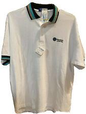 Vintage La Mode Golf Polo Shirt Mens Large White New NWT Windstar Naples Bay