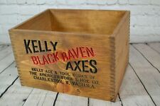 Vintage Kelly Black Raven Axe Head Crate Replica - Man-cave, Decor, Storage