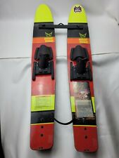 """HOT SHOT TRAINERS WATERSKIS w/ STABILIZER BAR & ROPE 46"""" x 7"""""""