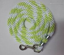 """Horse Nylon Lead Rope 70 """"with steel  Swivel Snap-neon lime/white CANDY CANE"""