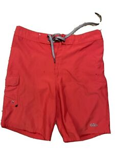 Nike Red Board Shorts Swim Suit Men's Size 30