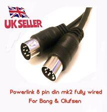 Powerlink DIN 8 Pin Cavo Altoparlante mk2 Beolab 4 Bang & Olufsen 4 MTS completamente cablato