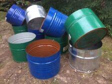 half steel barrel drum raised garden bed planter 44 gallon $45! Not for wine...