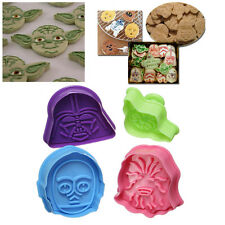 4Pc Star War Character Candy Plunger Cutter Decor Fondant Cake Cookie Mold Tool