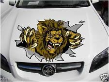 Ripping Angry Lion Bonnet Decal Sticker Vinyl Car Caravan Ute Free Postage