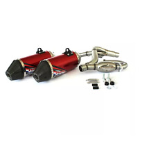 HGS MARMITTA SCARICO COMPLETO ROSSO HONDA CRF 450 R 2013-2014 EXHAUST SYSTEM RED