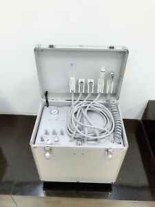 Dental Portable Mobile Delivery Unit Rolling Box Air Compressor Suction 4 Holes