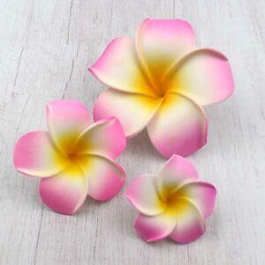 9cm Plumeria Artificial Foam Frangipani Flower Heads Beach Wedding Party Decor