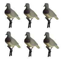 6 pcs Outdoor Dove Decoy Clip-on Mourning Dove Decoy Hanging Loop Garden Decor