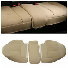 Beige Car Rear Seat PU Leather 3D Surround Car Seat Protector Rear Seat Cover