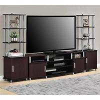 "Cherry Black 3 Piece 63"" TV Stand Set Home Living Accent Furniture Collection"
