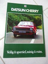 Nissan Datsun Cherry 1980 brochure catalogue commercial sales marketing