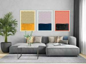 Colorful Contemporary Artwork, Colorful Abstract Rain Set, Contemporary Set, Mod
