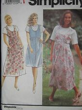 7666 Vintage Simplicity Sewing Pattern Misses Button Front Empire Jumper & Top