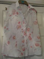 LADIES MARKS AND SPENCER SIZE 12 COTTON SHIRT - GREAT COND