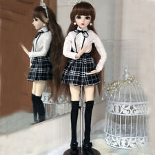 """24"""" Beauty Girl 1/3 BJD Doll Eyes Face Make up Dress Wig Shoes Ball Jointed Doll"""