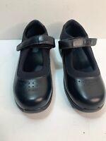 Drew Rose 8W wide black diabetic Mary Janes womens ladies flat shoes 14375-99