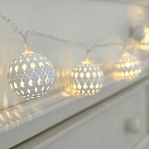 Retro Battery String Lights Fairy Garden LED Moroccan Globe Lantern Home Decor