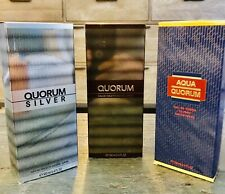 ALL QUORUM LOT 3.3/3.4 oz 100ml • ORIGINAL, AQUA and SILVER • Antonio Puig